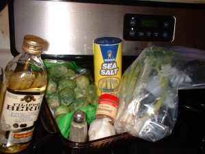 Roasted Brussel Sprouts ingredients
