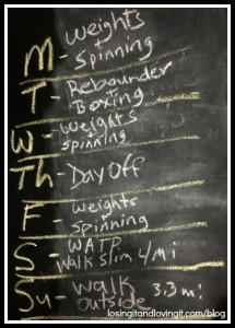 Workouts Week of April 8 2013