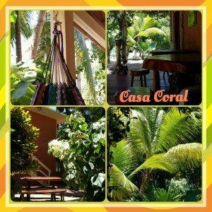 Roatan Honduras Casa Coral collage