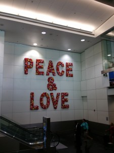 Peace and Love Miami Airport