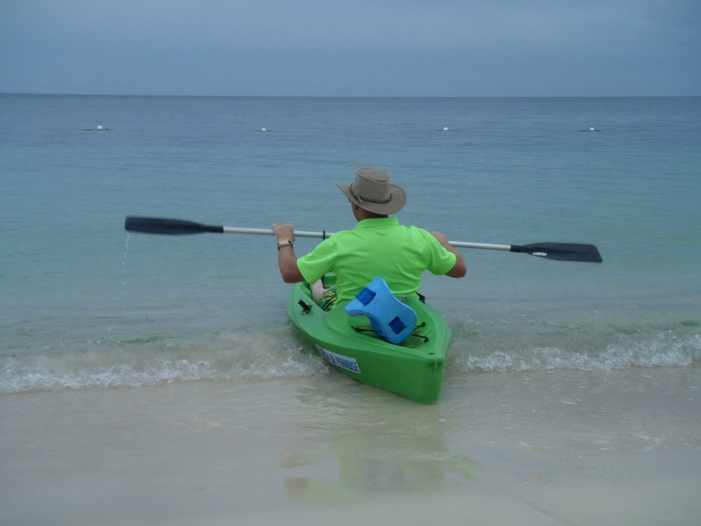 Kev Kayaking in Roatan