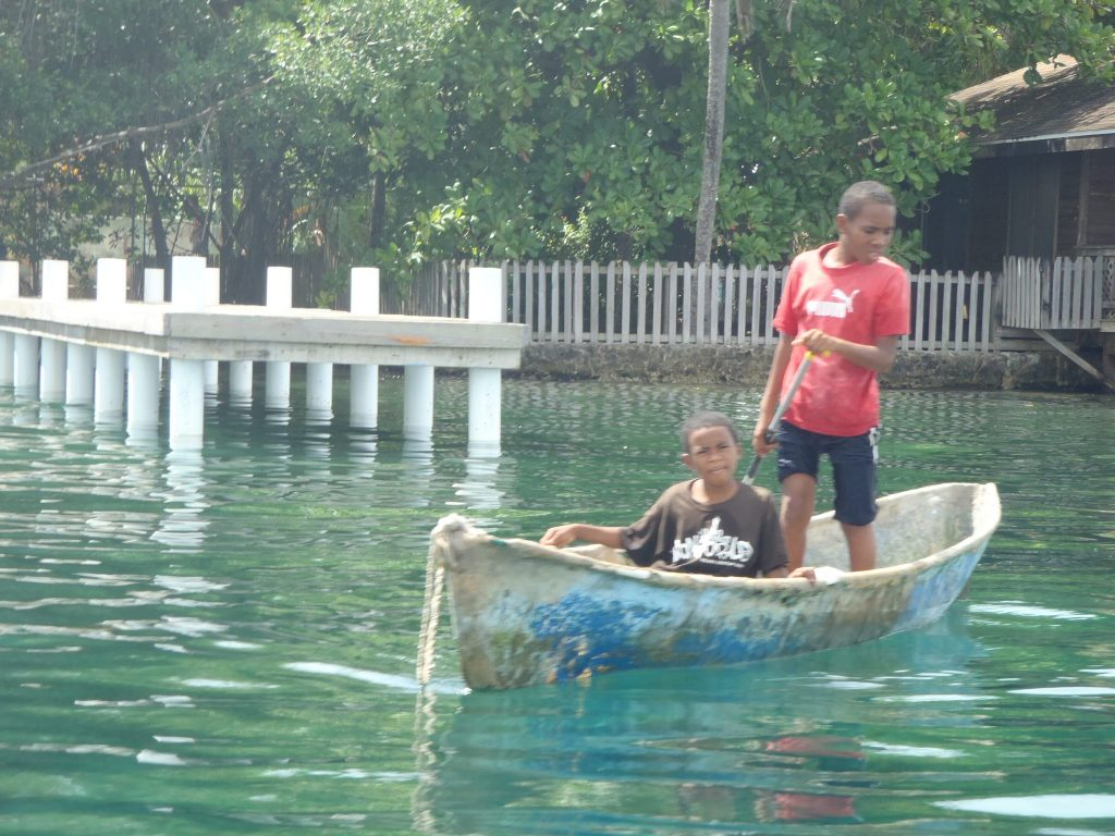 Roatan Boys Boating