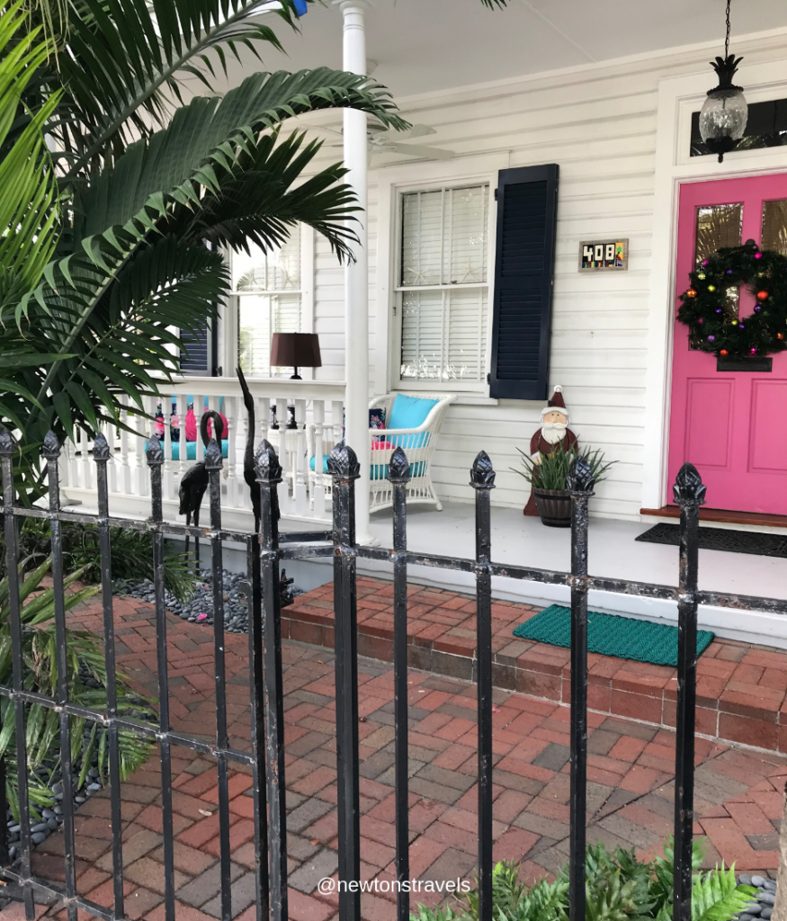 House with pink door, Key West, FL