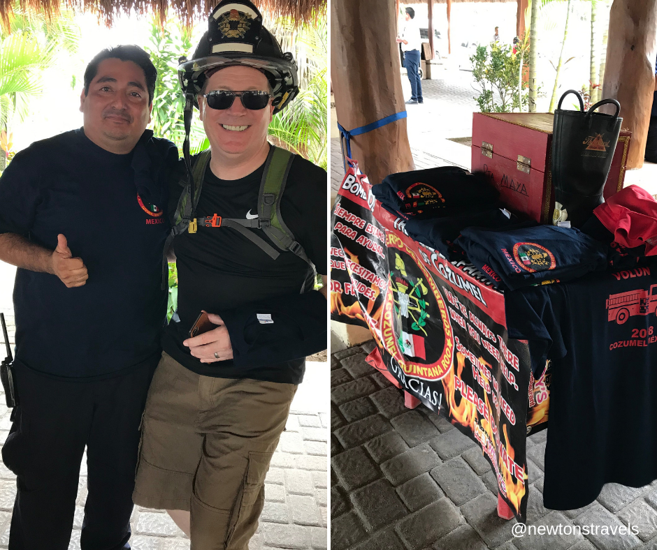 Cozumel, Mexico fire fighter donation