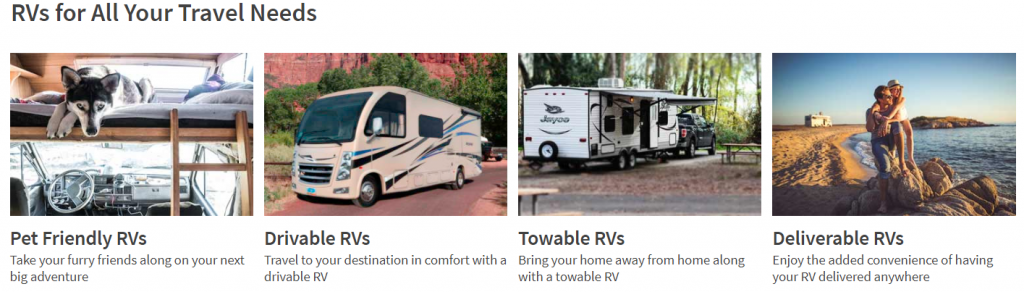 RV Share unique rental company