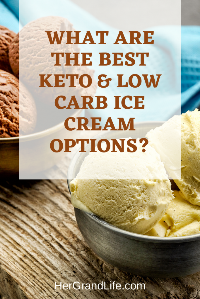 Are you craving a delicious scoop of low carb and Keto friendly ice cream? Let's find the best options from store bought to homemade. I picked out some great choices found around the web and shared them in my post.