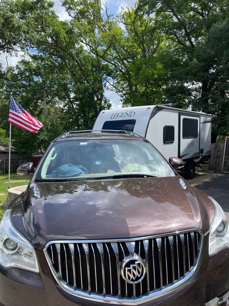 Buick Enclave and travel trailer